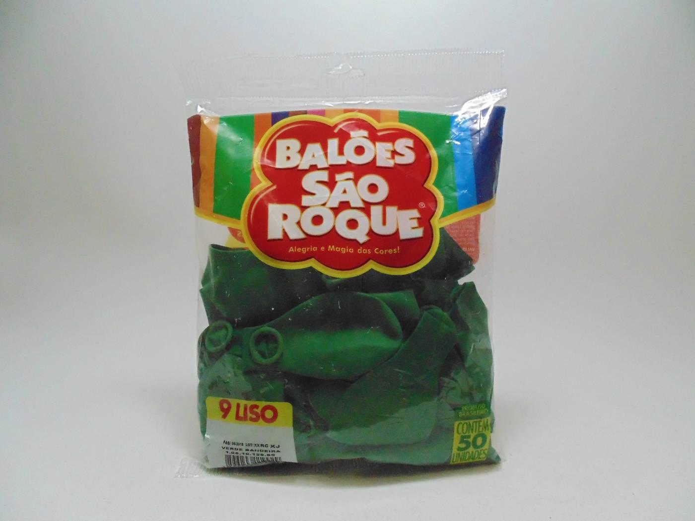 Balão São Roque Nº9 C/ 50  - Verde Bandeira