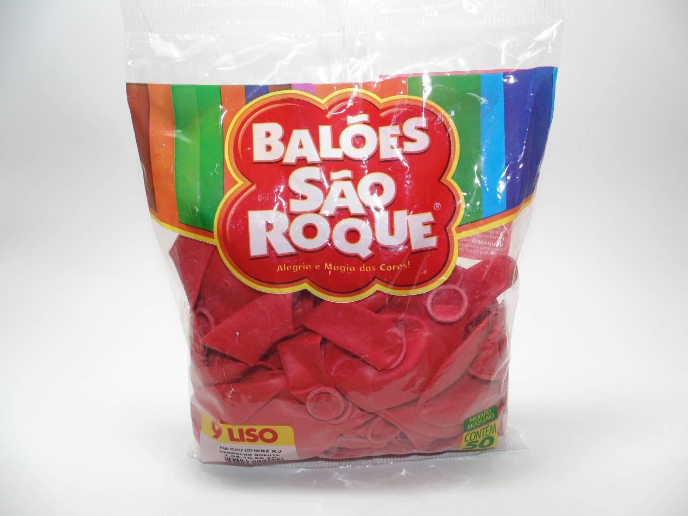 Balão São Roque Nº9 C/ 50  - Vermelho Quente