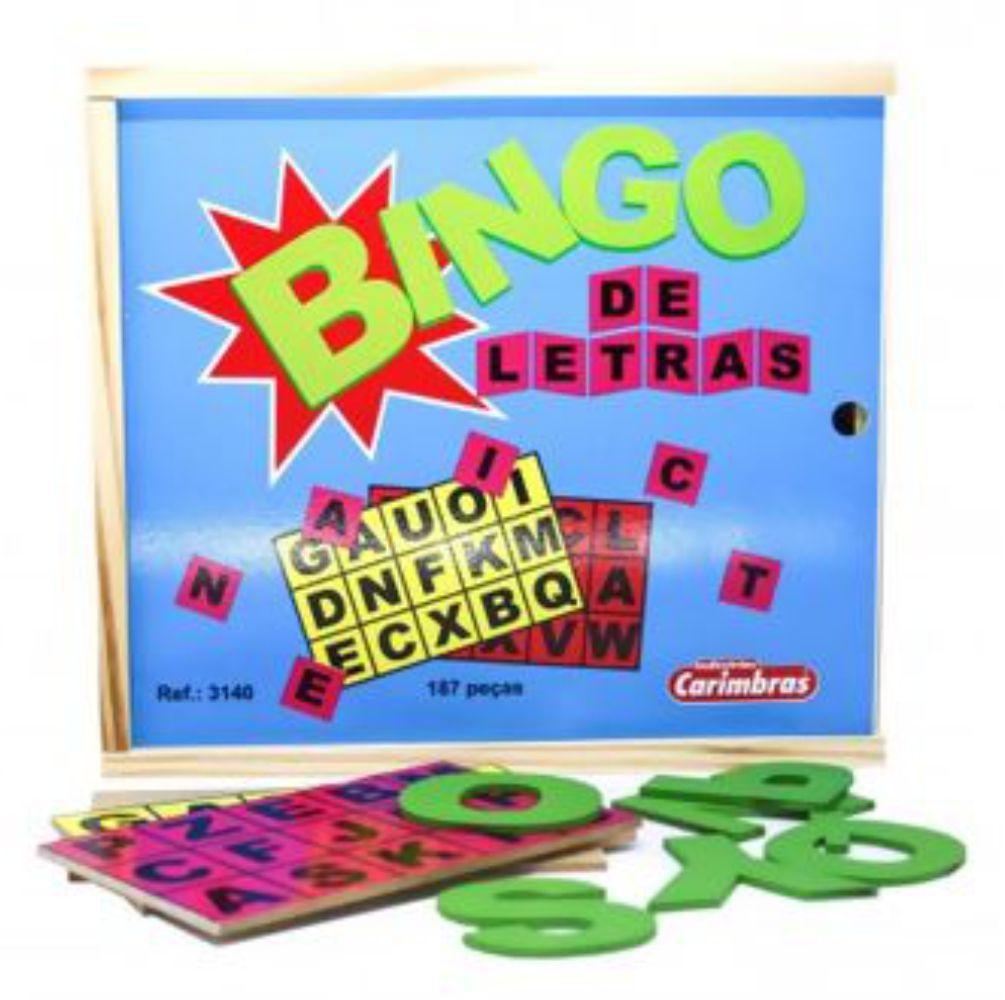 Bingo de Letras Carimbras Ref. 3140