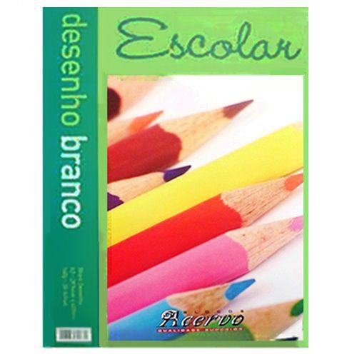 Bloco Acervo Escolar A3 Branco 20 Folhas Desenho