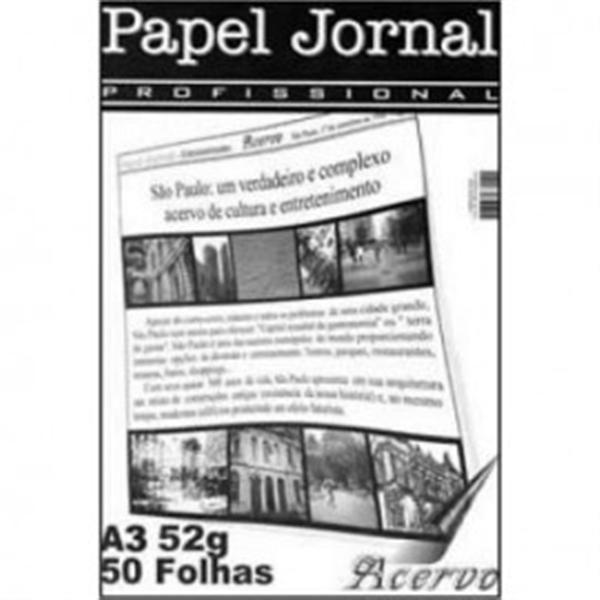 Bloco Acervo Profissional A3 50 Folhas Papel Jornal