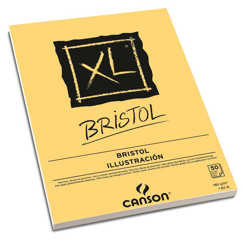 Bloco Bristol XL Canson A4 180g/m² 50 Folhas