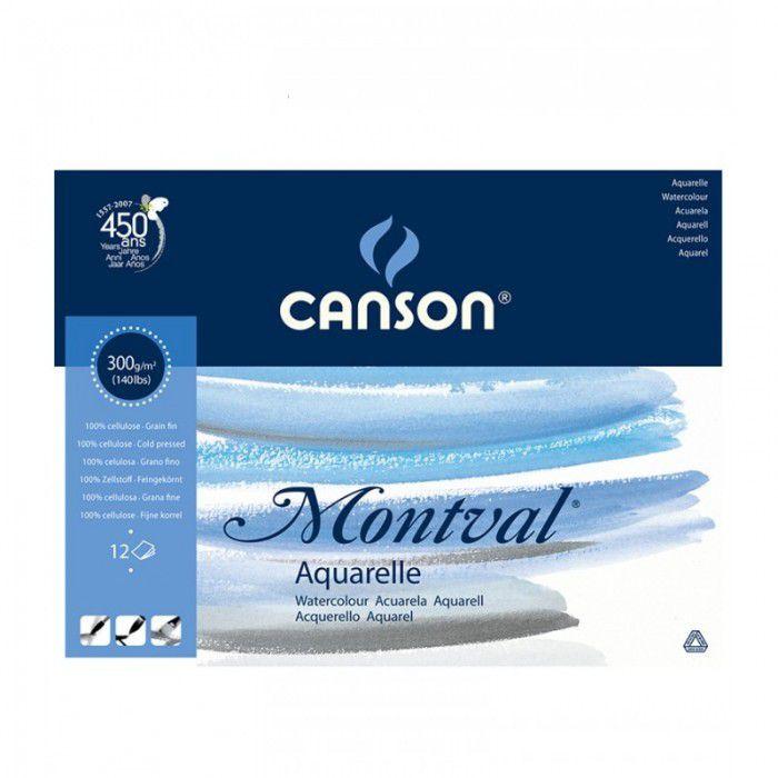 Bloco Canson A3 Branco 12 Folhas Montval Aquarela