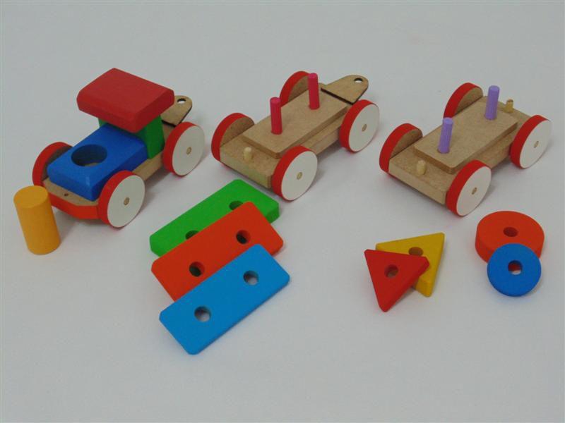 Brinquedo Educativo Gui Gui TREM PEDAGÓGICO DE FITAS M-06