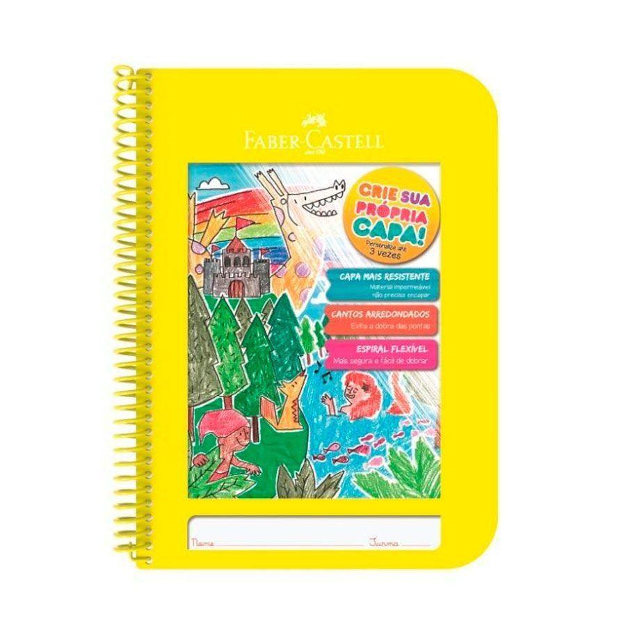 Caderno Criativo Faber-Castell 96 folhas - Amarelo