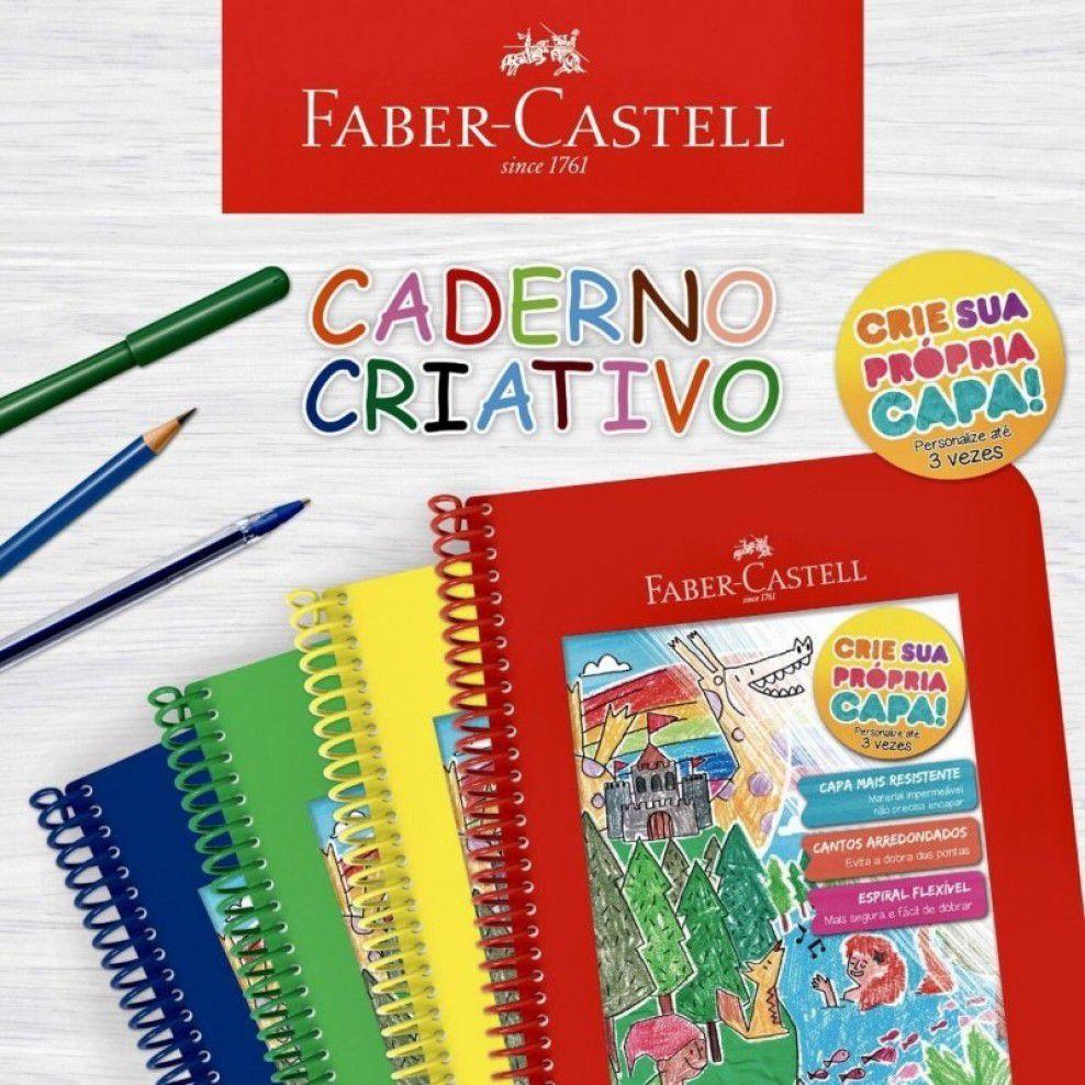 Caderno Criativo Faber-Castell 96 folhas - Vermelho