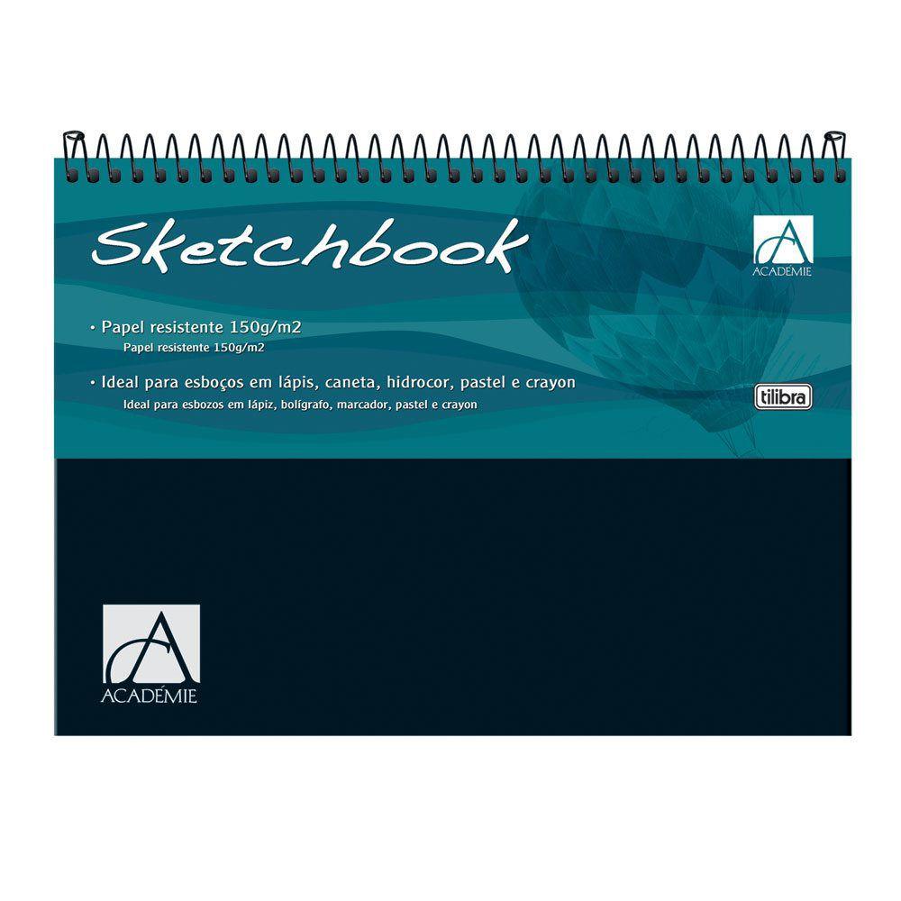 Caderno Desenho Sketchbook Academie A4 Tilibra Espiral