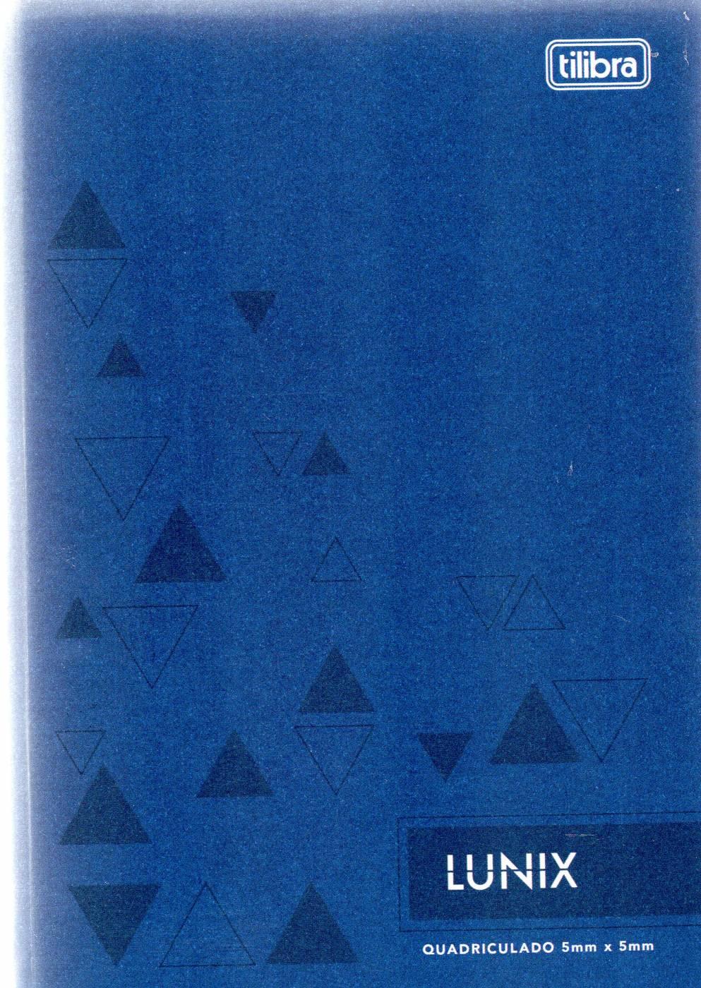 Caderno Lunix 1/4 Tilibra Quadriculado 5 mm x 5 mm Azul
