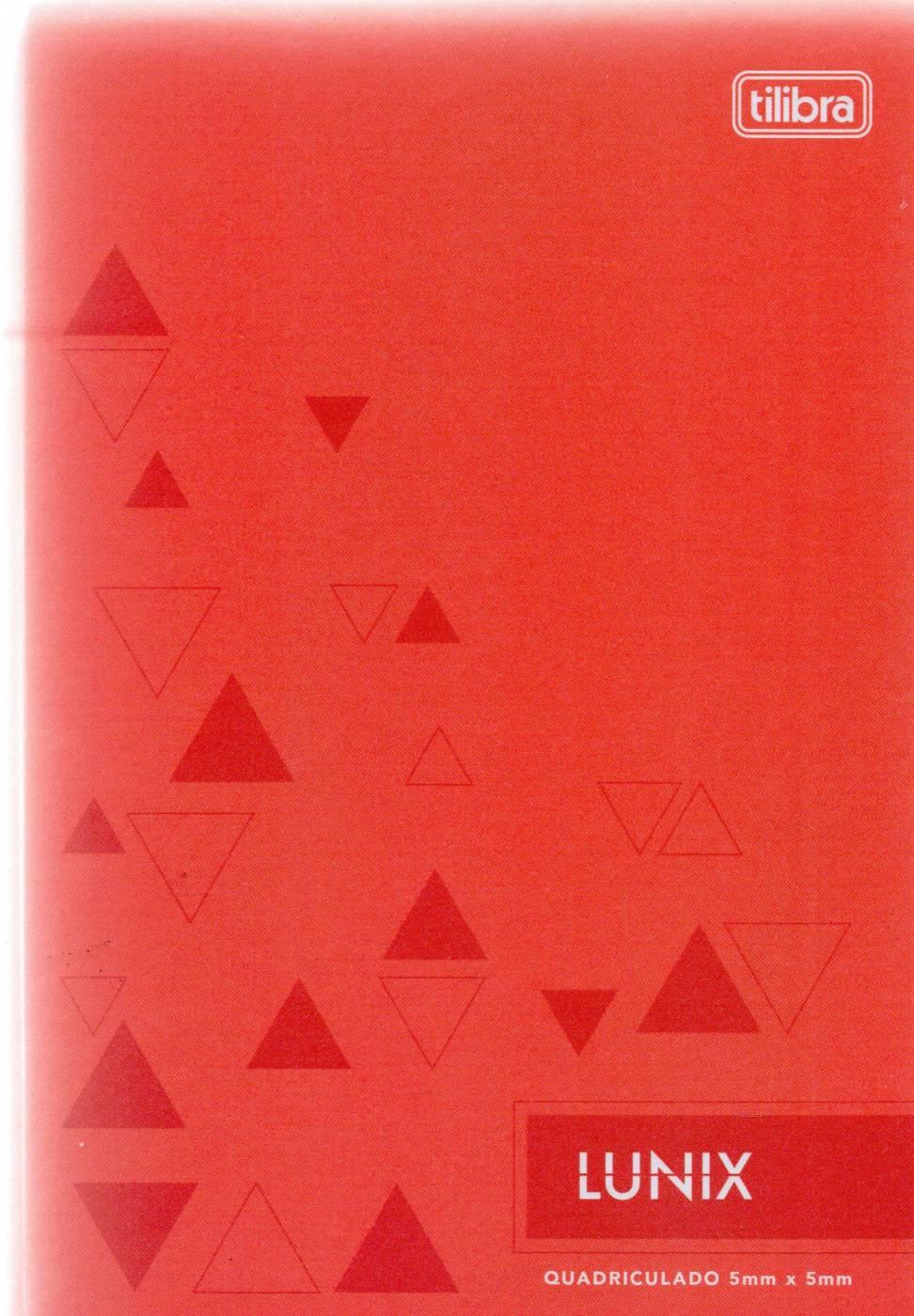 Caderno Lunix 1/4 Tilibra Quadriculado 5 mm x 5 mm Vermelho