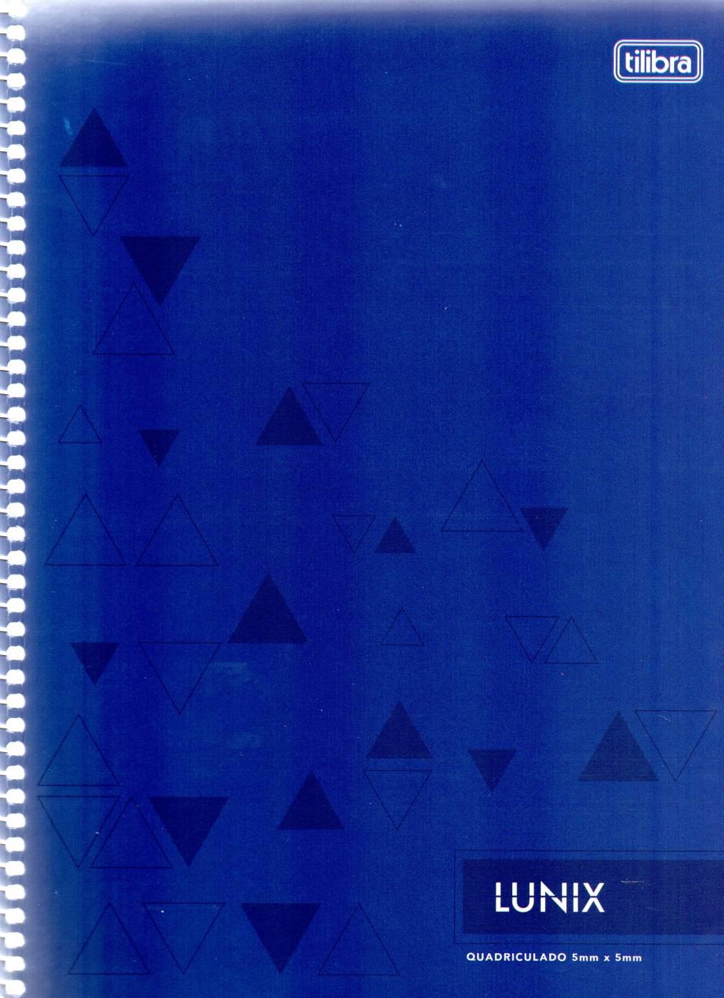 Caderno Lunix Tilibra Quadriculado 5 mm x 5 mm Azul