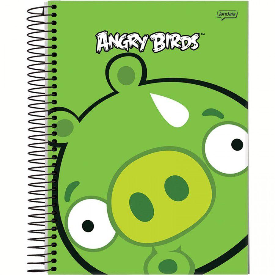 Caderno Univ Angry Birds 200 Folhas10 Matérias Jandaia