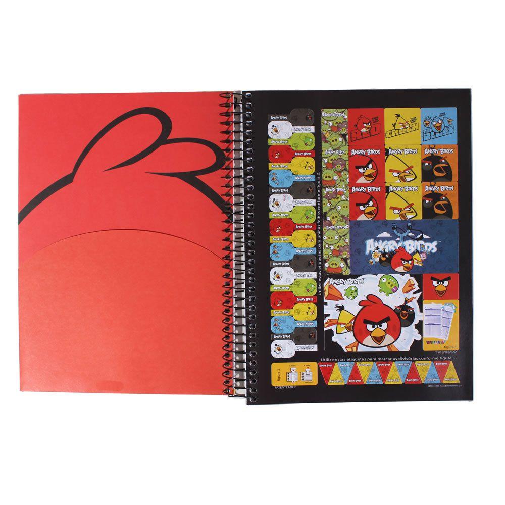 Caderno Univ Angry Birds 200 folhas 10 Matérias Jandaia
