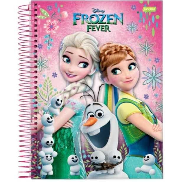 Caderno Univ Frozen Fever 100 folhas 1 Matéria Jandaia