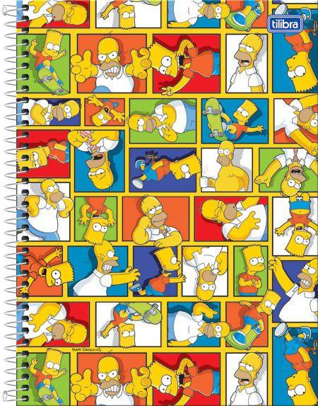 Caderno Univ Simpsons 200 folhas 10 Matérias Tilibra