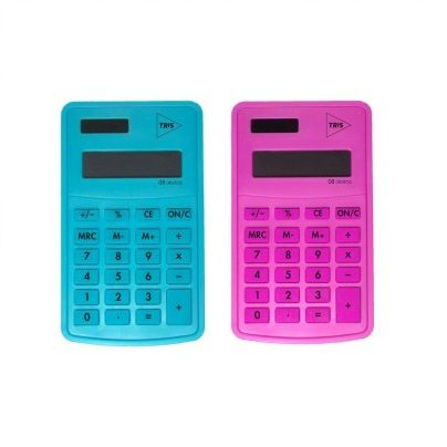 Calculadora De Bolso Tris Pop Office Rosa - Ref. 678221