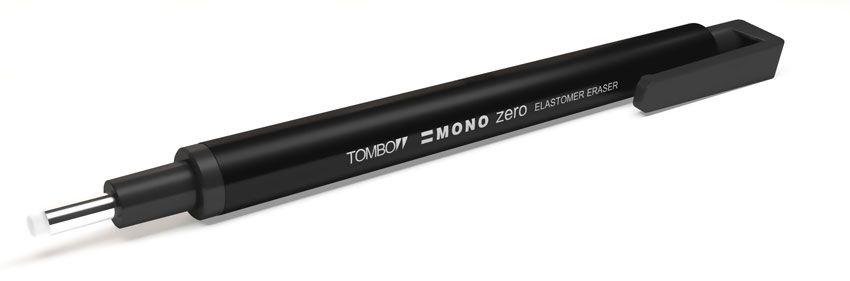 Caneta Borracha Tombow Mono Zero 2.3 mm Preta EH-KUR11