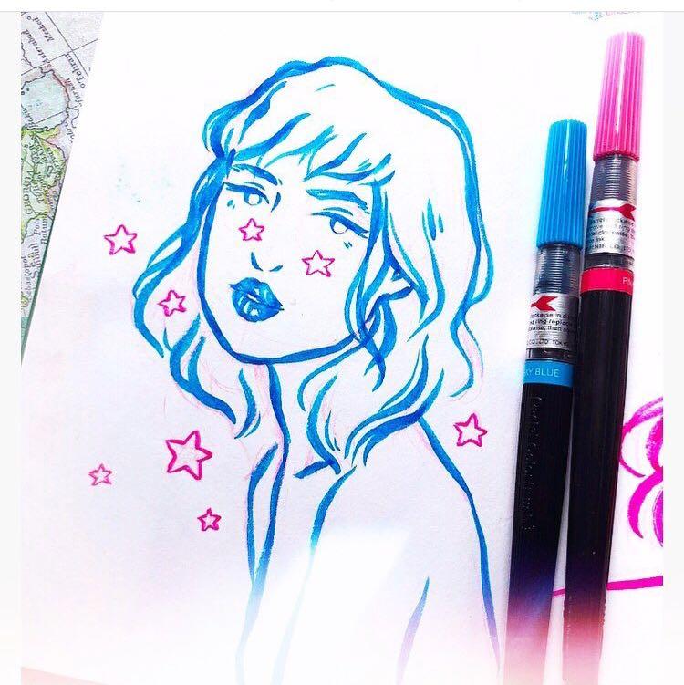 Caneta Pentel Color Brush - Azul Escuro