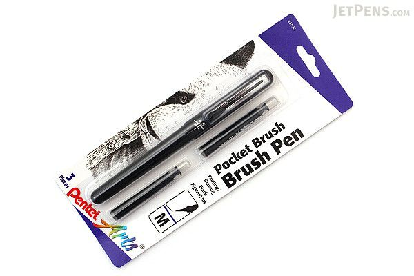 Caneta Pentel Pocket Brush + 2 refis FP10