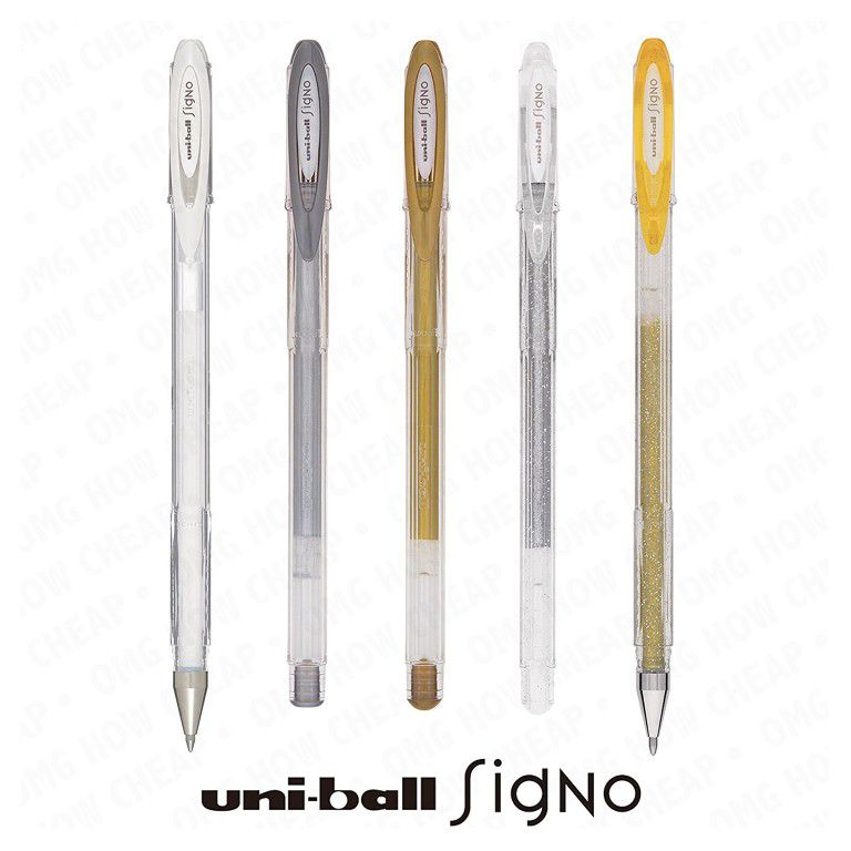 Caneta Uniball Signo Noble Metal UM-120NM - Dourada