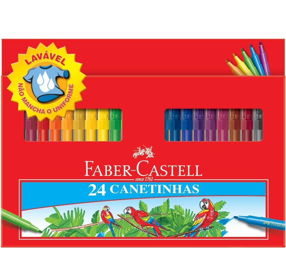 Canetinhas Hidrográficas Faber-Castell c/ 24cores 15.0124CZF