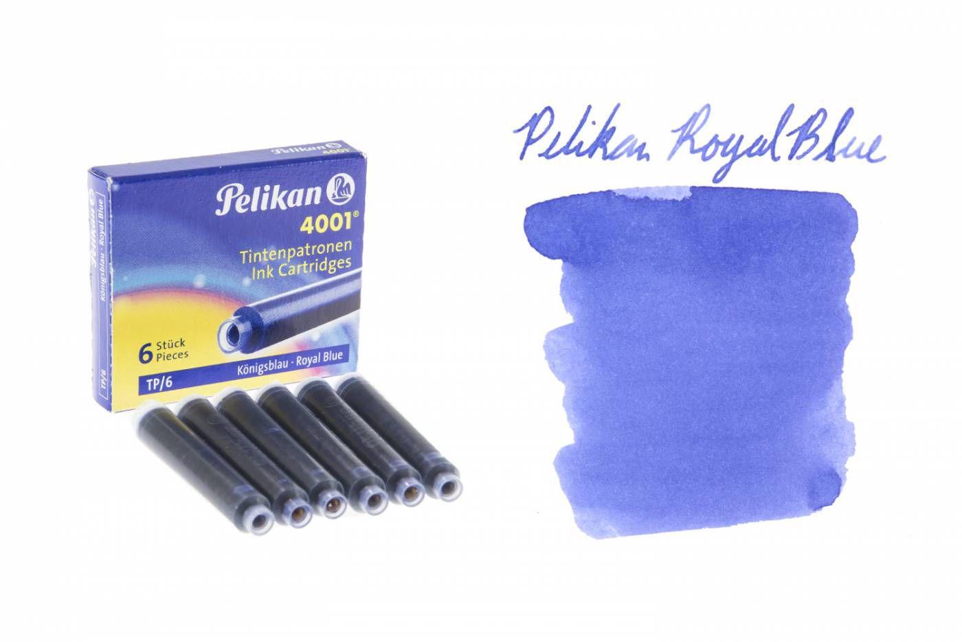 Cartucho de Caneta Tinteiro Pelikan 4001 c/ 6 un- Azul