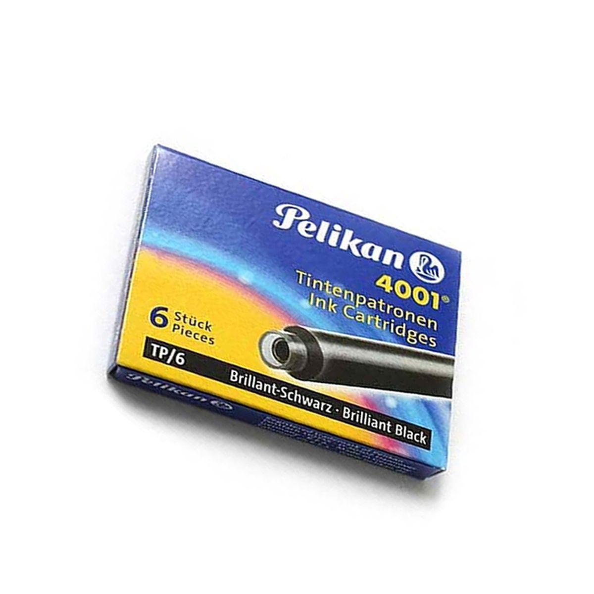 Cartucho de Caneta Tinteiro Pelikan 4001 c/ 6 un- Preto