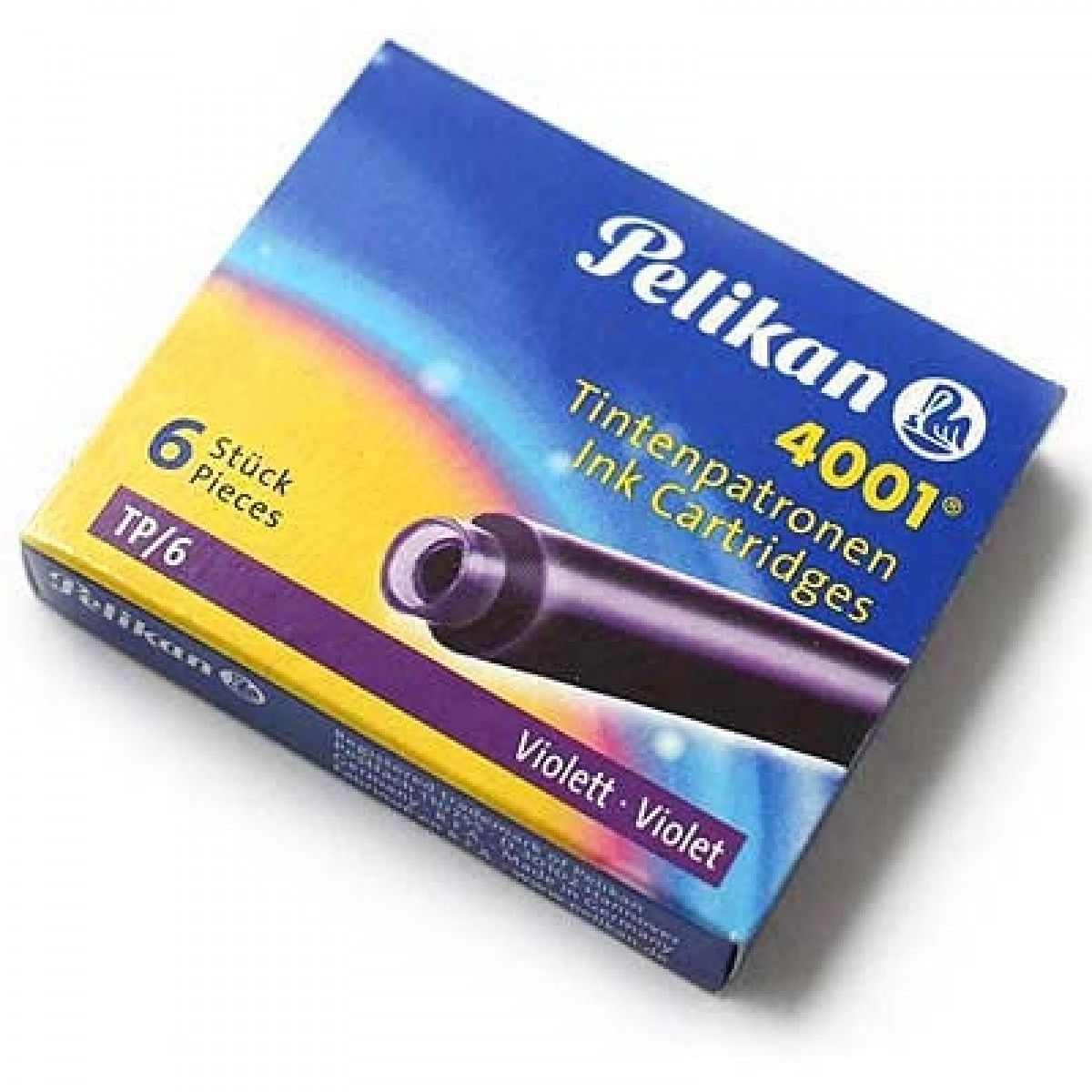 Cartucho de Caneta Tinteiro Pelikan 4001 c/ 6 un- Violeta