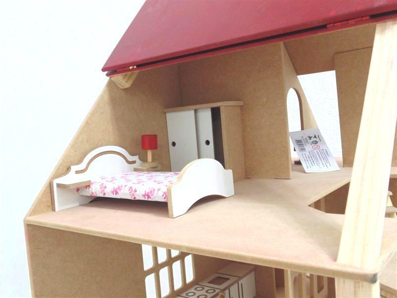 Casa de Boneca Chalé com Móveis Bohney PA142