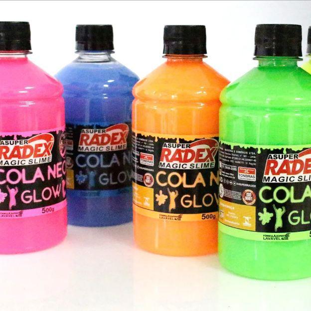 Cola Neon Radex Magic Slime 500g - Azul