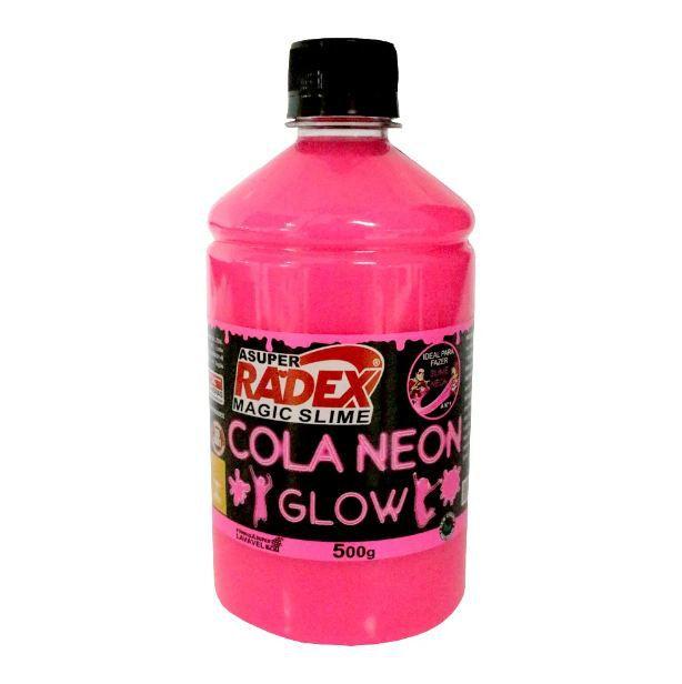 Cola Neon Radex Magic Slime 500g - Rosa