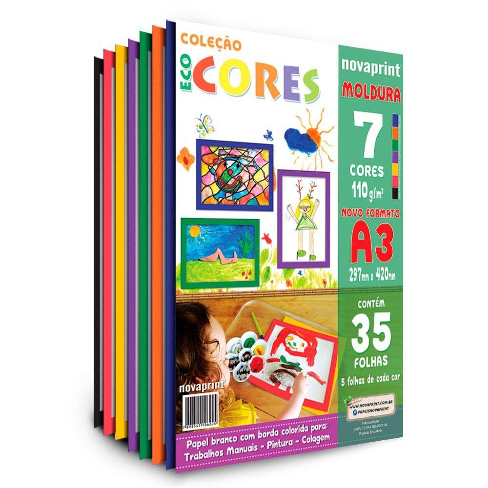 Coleção Ecocores Novaprint Moldura 35fls. 7 cores A3
