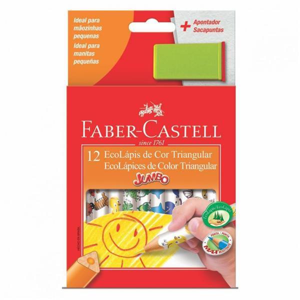 EcoLápis de Cor Triangular 12 Cores Faber-Castell 12.3012AP