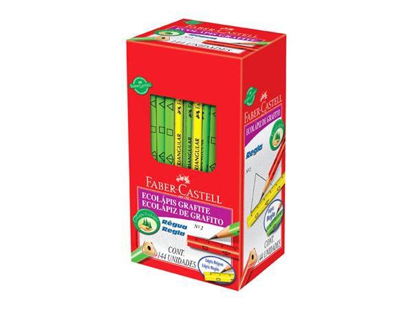 EcoLápis Grafite Nº2 Régua Faber-Castell Kit Com 3 Cores 935RG