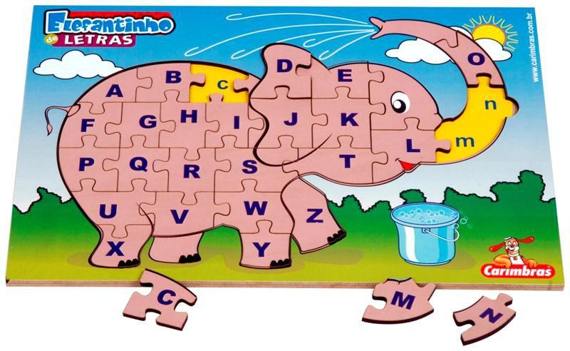 Elefantinho de Letras Carimbras Ref. 3720