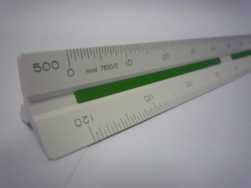 Escalímetro Triangular Trident N°2 7830/2