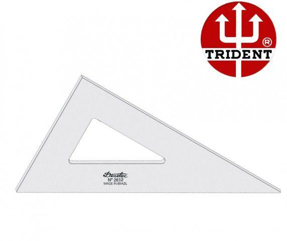 Esquadro de Acrílico Trident 21cm - sem Escala - Ref.2621