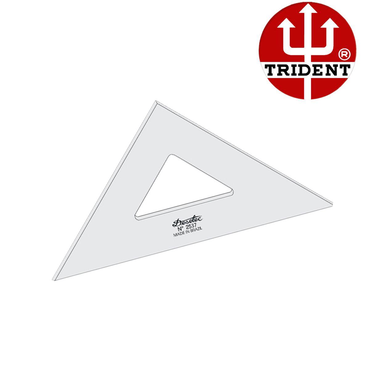 Esquadro de Acrílico Trident 37cm - sem Escala - Ref.2537