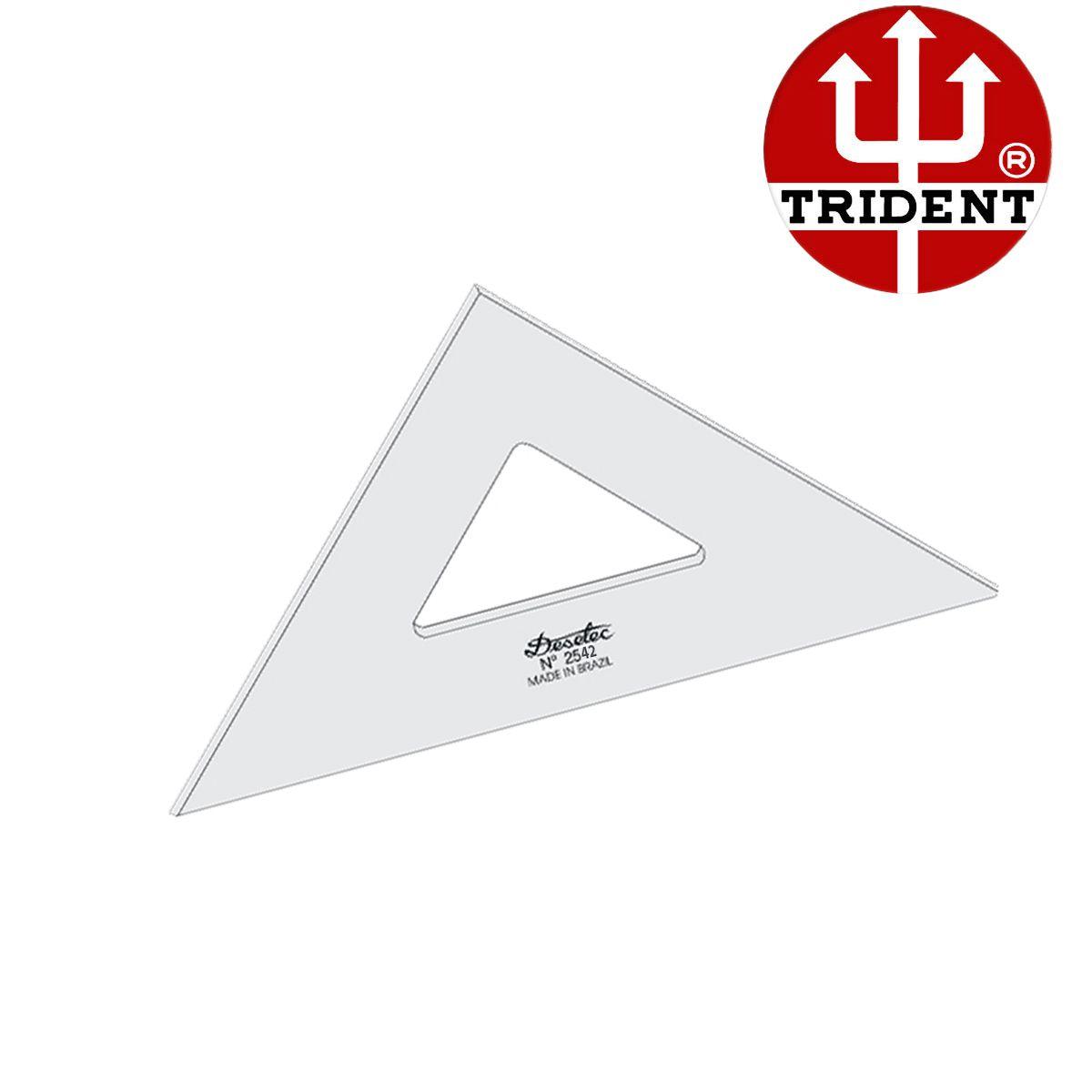 Esquadro de Acrílico Trident 42cm - sem Escala - Ref.2542