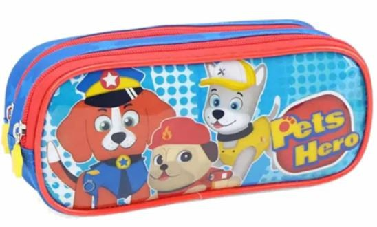 Estojo Duplo Luxcel Pets Hero EI32734PH