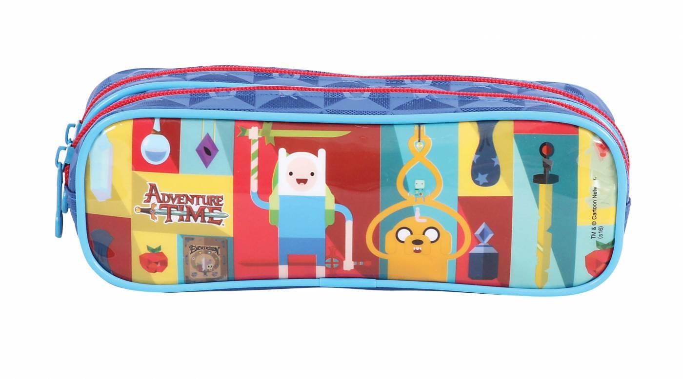Estojo Escolar Duplo DMW Adventure Time 49016