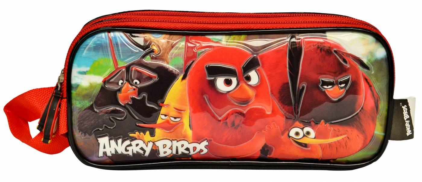 Estojo Escolar Duplo Santino Angry Bird 800401