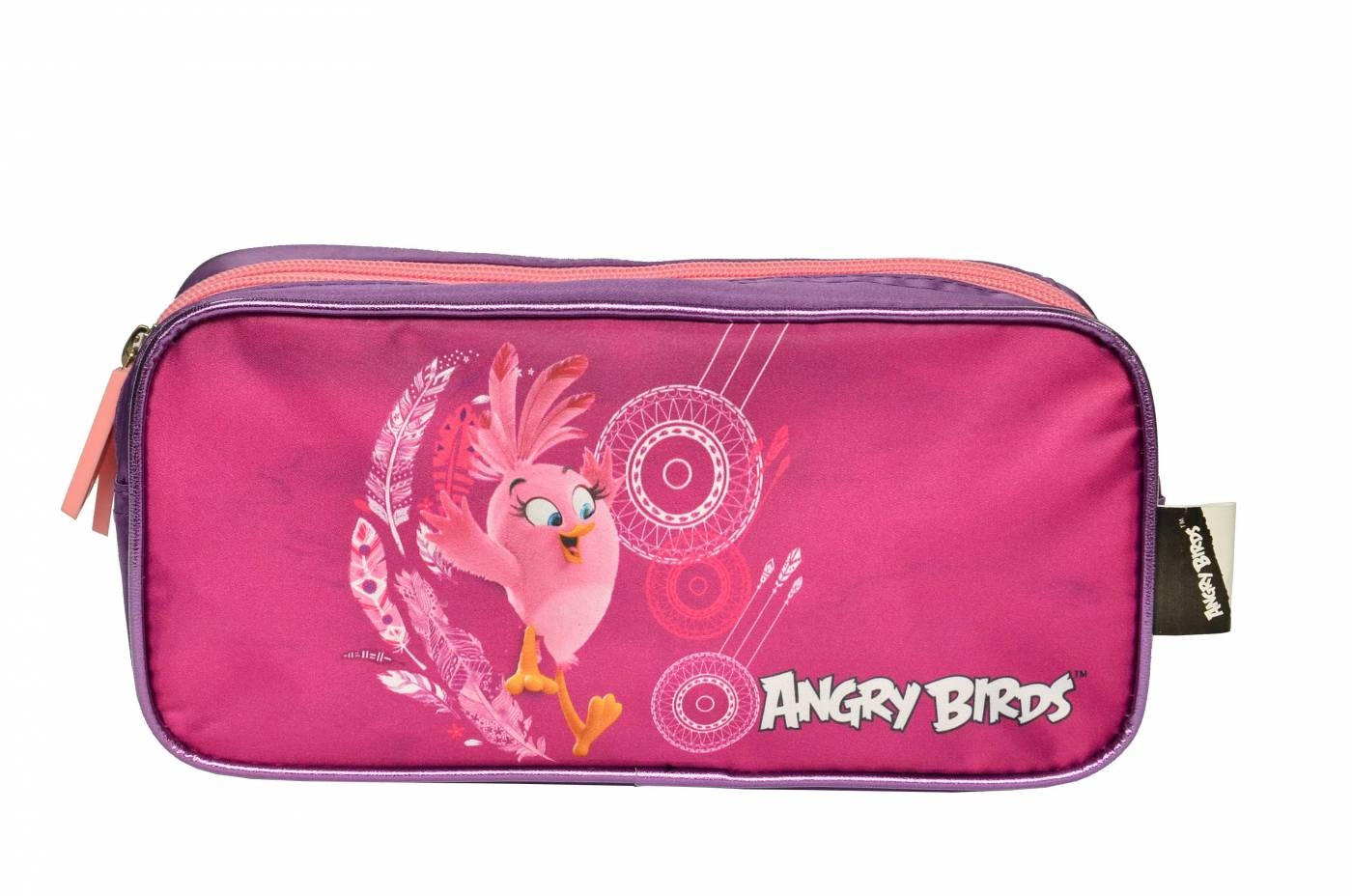 Estojo Escolar Duplo Santino Angry Bird 801014