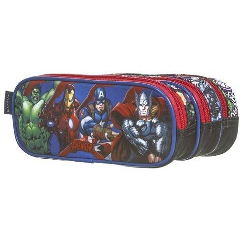 Estojo Escolar Triplo DMW Avengers Ref. 11602