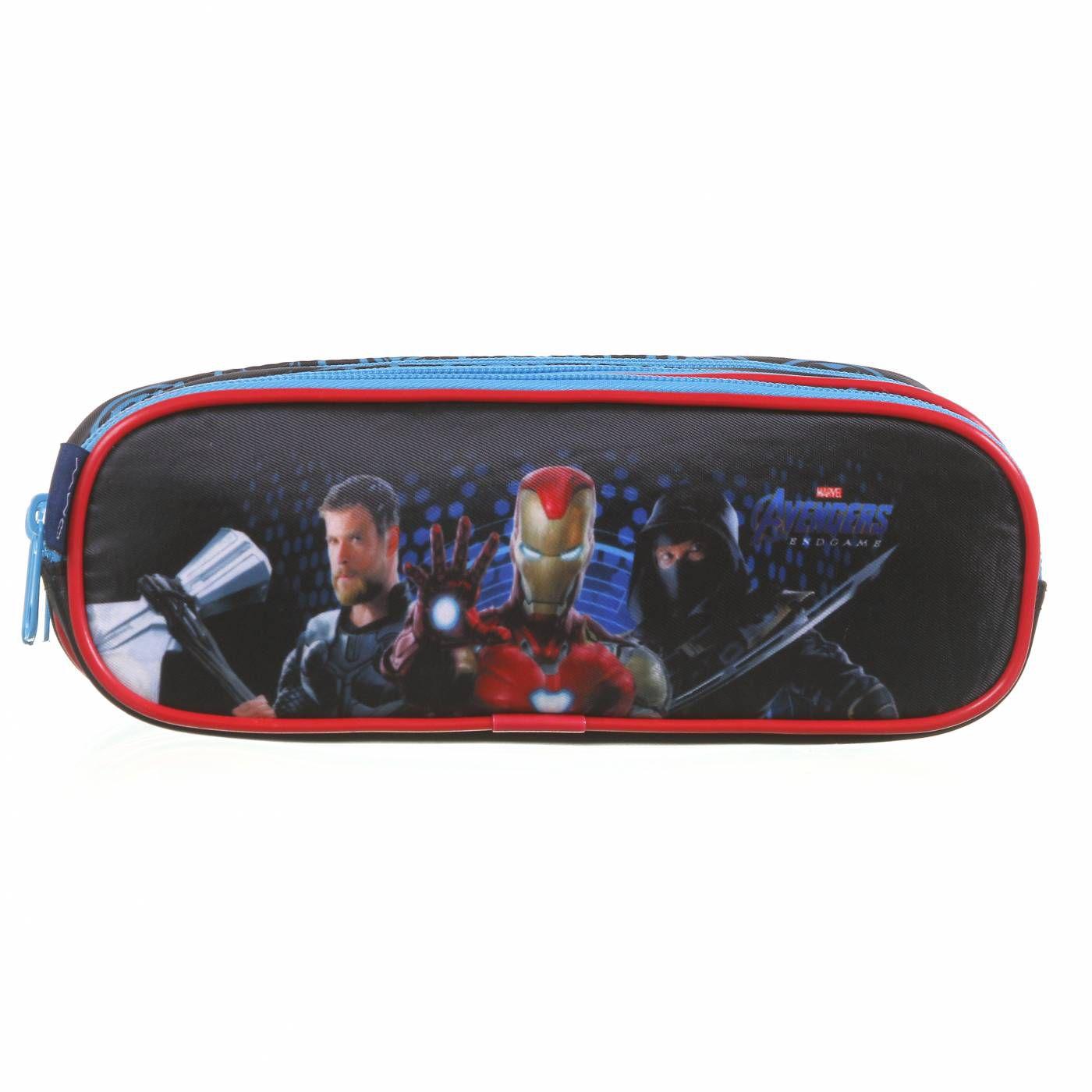 Estojo Escolar Triplo DMW Avengers Ref. 11627