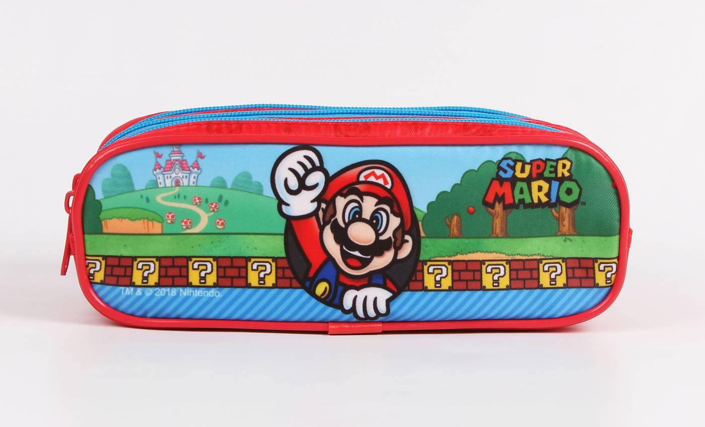 Estojo Escolar Triplo DMW Super Marios Bros 11540