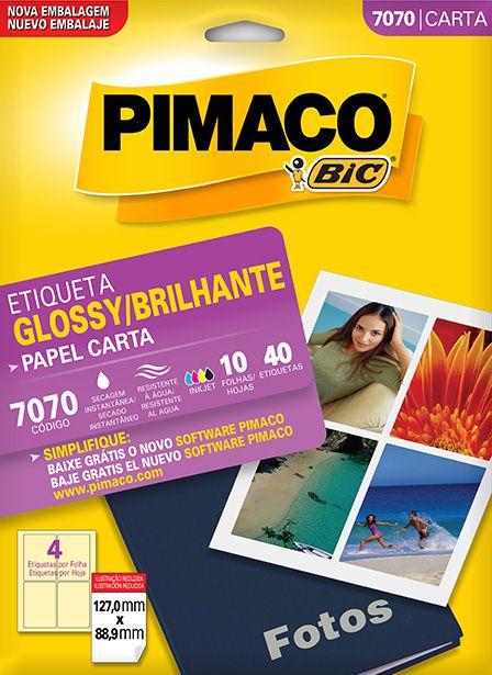 Etiqueta Brilhante Pimaco 7070 - 127,0 mm x 88,9 mm