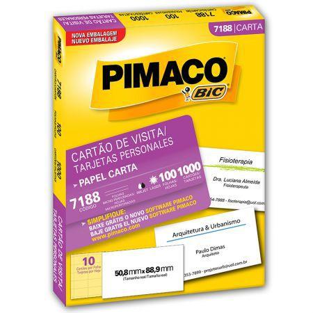 Etiqueta Cartão de Visita Pimaco 7188 - 50,8 mm x 88,9 mm