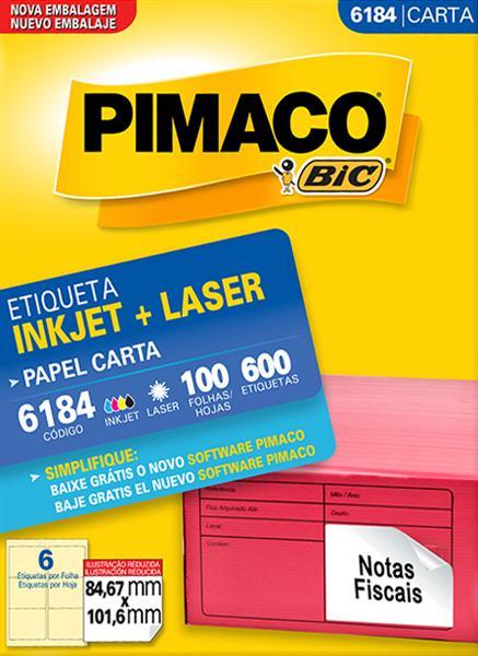Etiqueta Inkjet/Laser Pimaco 6184 - 84,67 mm x 101,6 mm