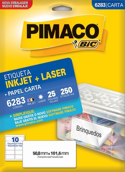 Etiqueta Inkjet/Laser Pimaco 6283 - 50,8 mm x 101,6 mm