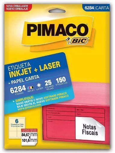 Etiqueta Inkjet/Laser Pimaco 6284 - 84,67 mm x 101,6 mm
